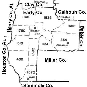 Early County 1930 Militia District Map