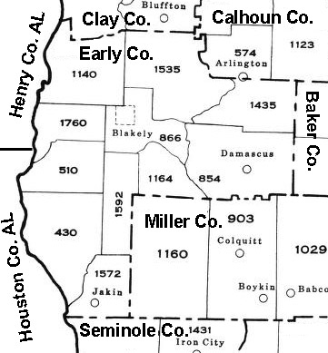 Early County 1940 Militia District Map