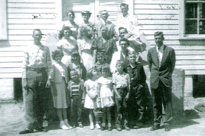 1954 with William and Bessie in the middle of the back row.