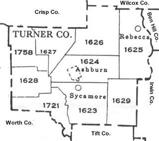 Map Of Georgia Militia Districts.Turner County Georgia Maps