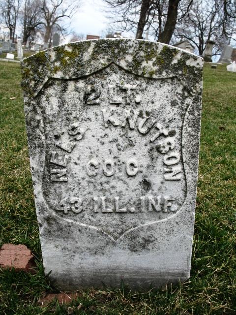 Nels Knutsoni, 2d Lieutenant, Company C, Illinois 43rd Infantry