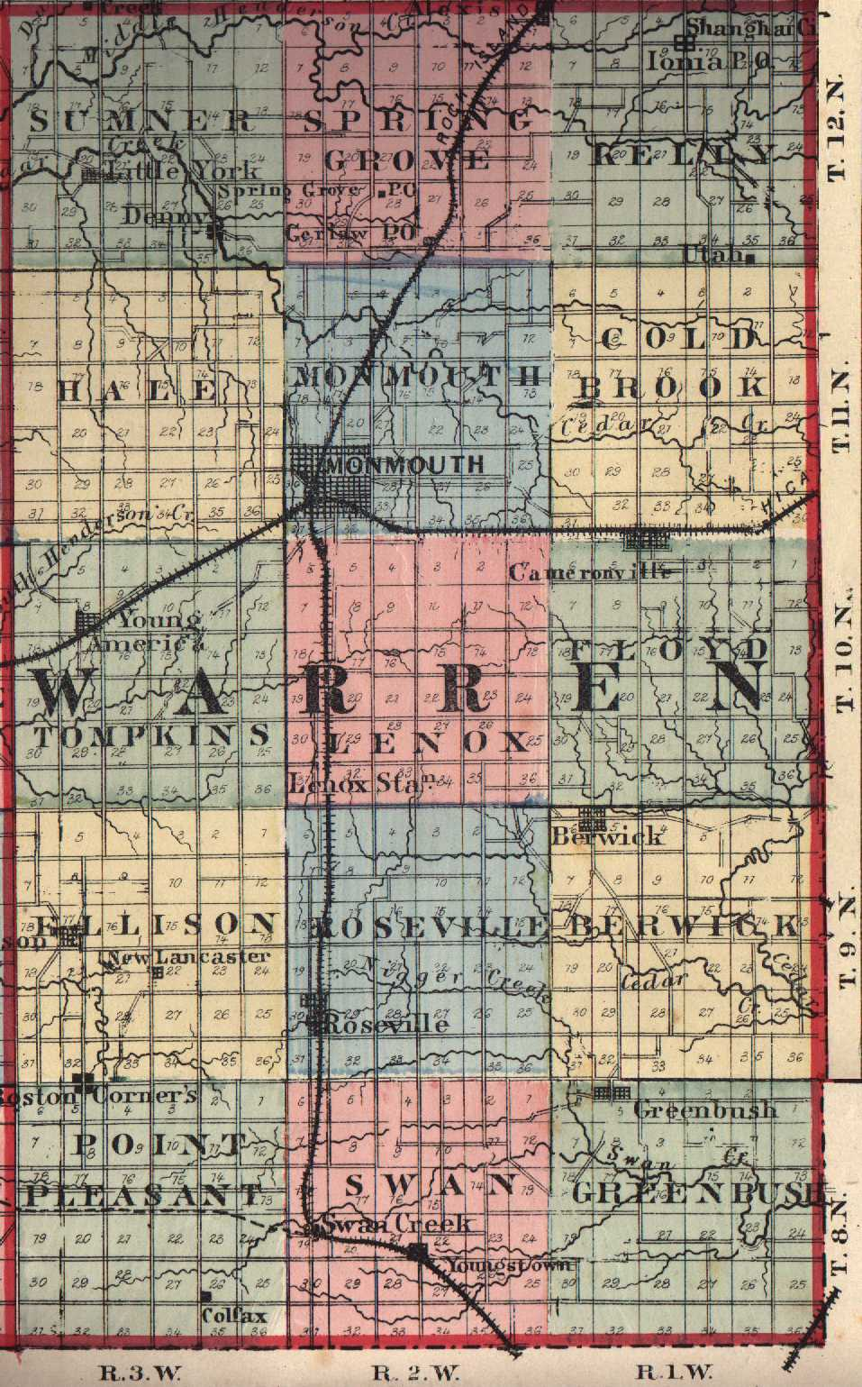 Is taken from an old 1895 il map just scanned in warren county il