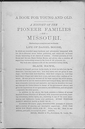 Pioneer Families of Missouri