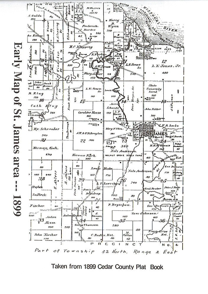 Nebraska county map 1899 plat map of st james area sciox Gallery