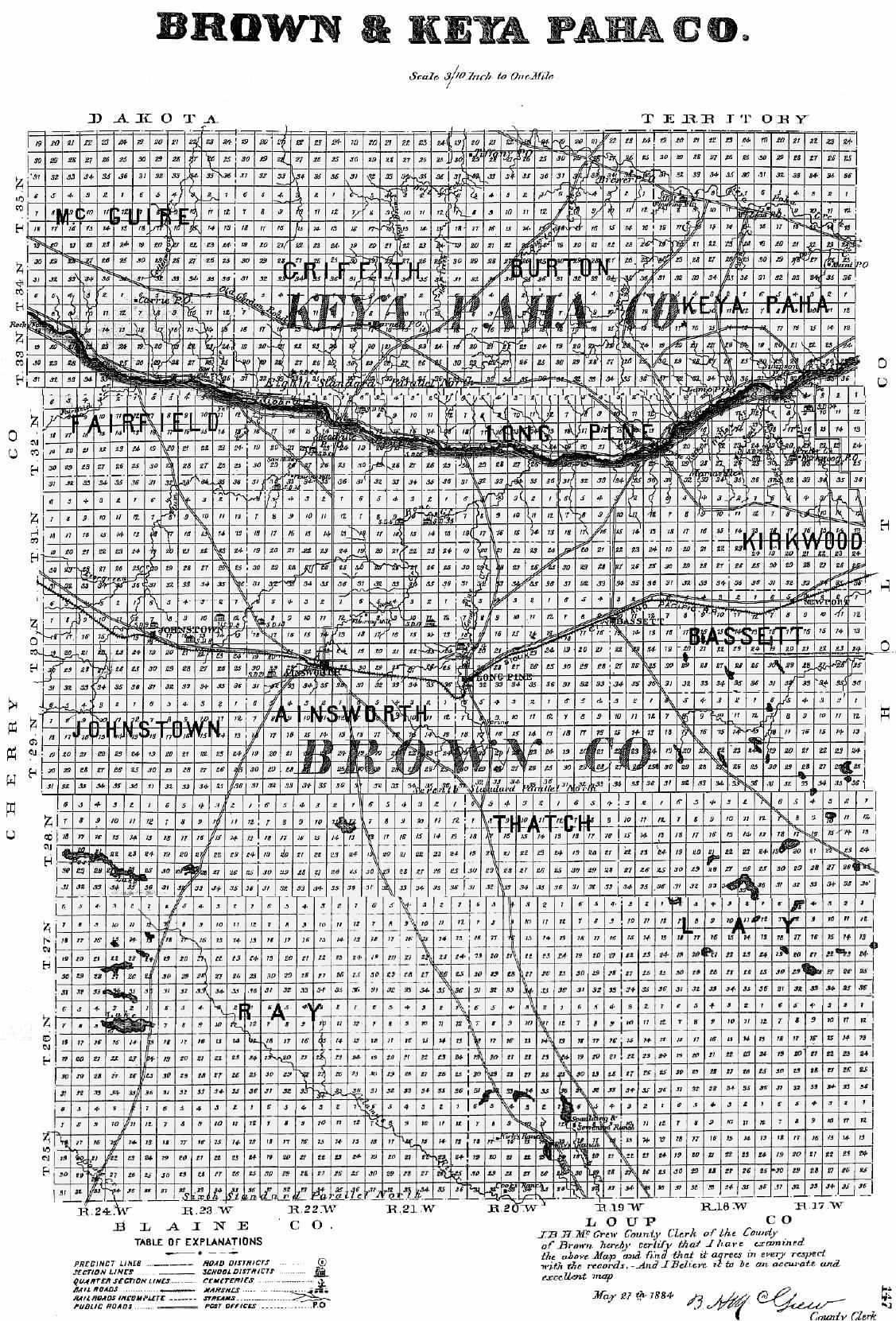 Red Bluff Dodge >> 1885 Nebraska Atlas