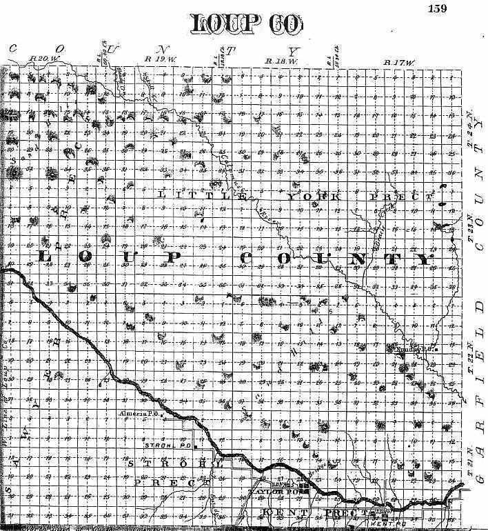 1885 nebraska atlas loup ccuart Images