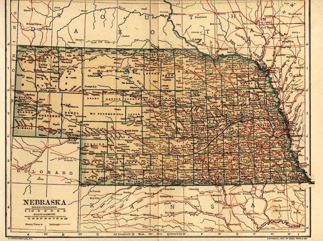 Maps Atlases - Nebr map