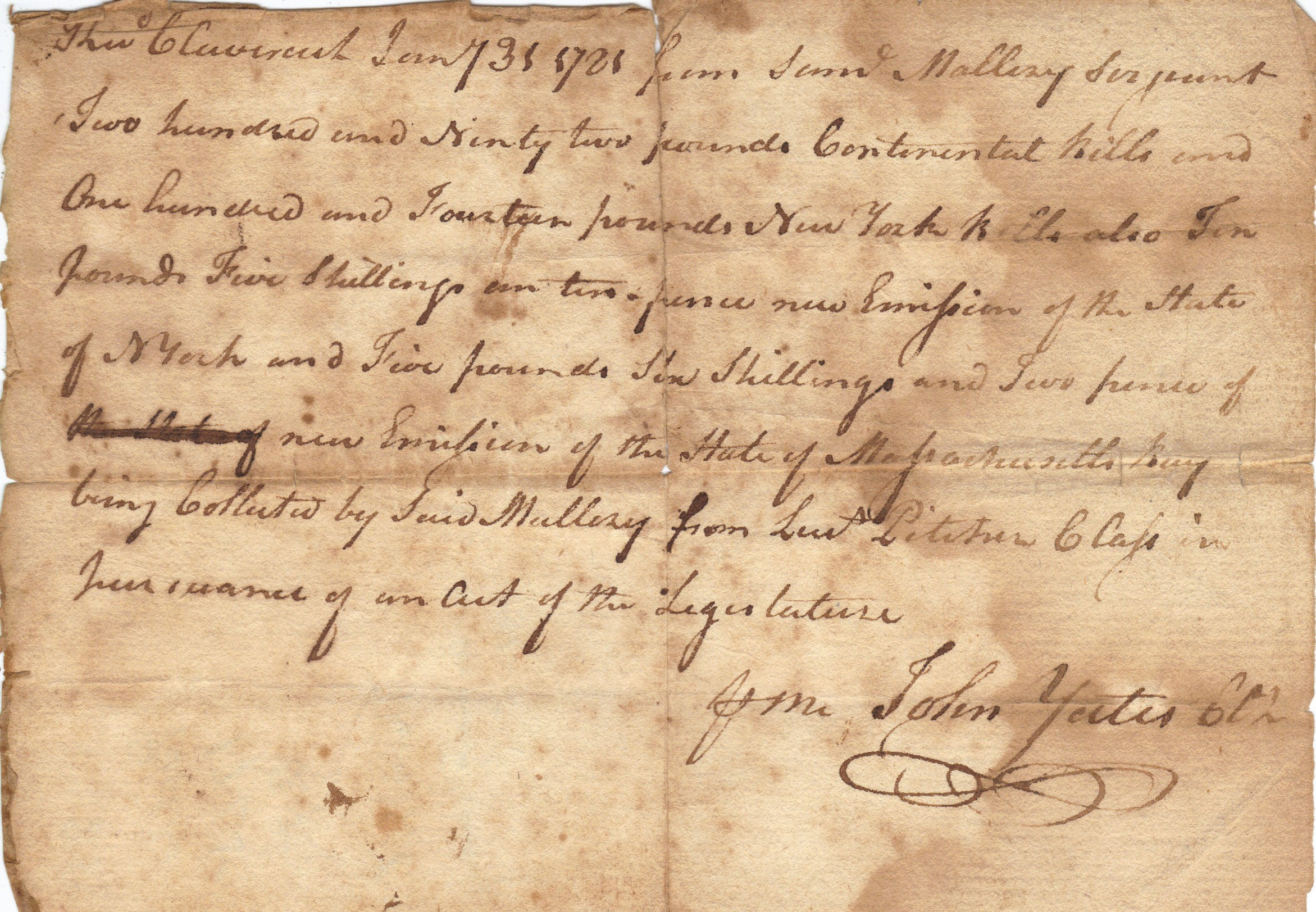 Old Documents From Columbia County, New York, USA