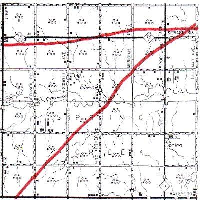 Kingfisher County Oklahoma Map.Spring Creek Township Logan County Oklahoma