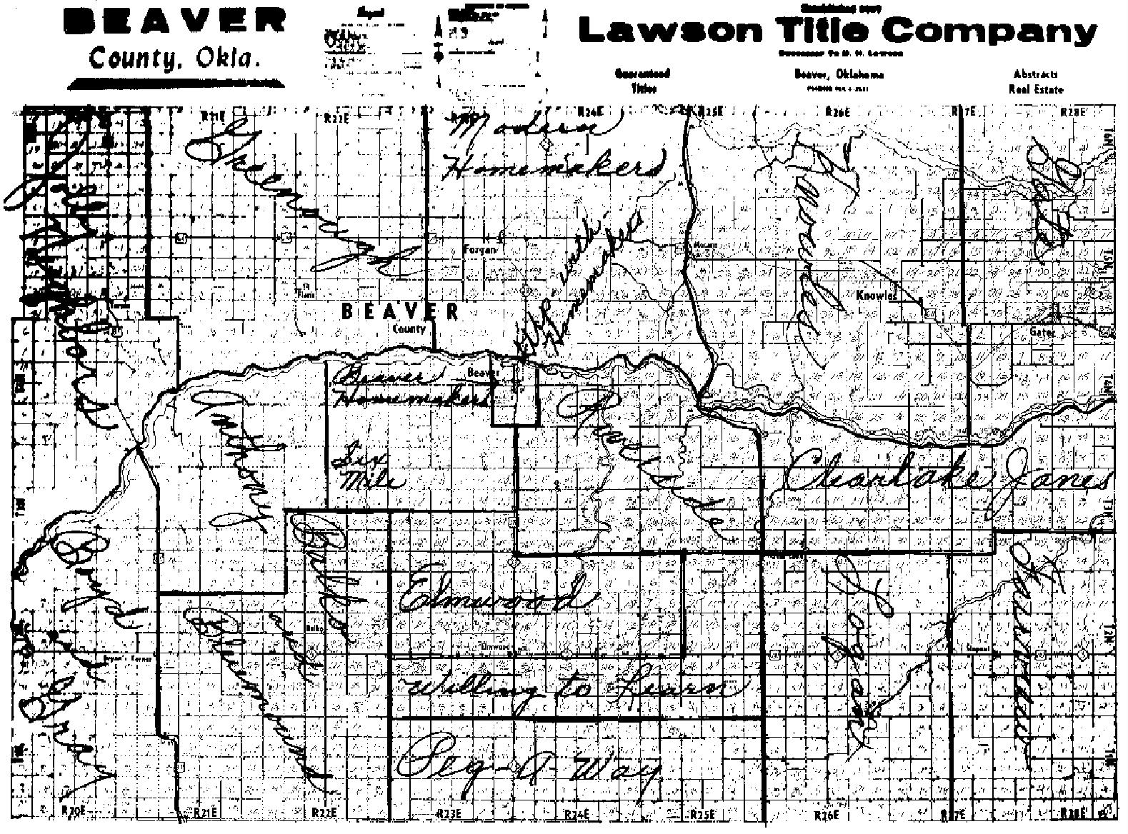 Beaver County Oklahoma Map - Okla map