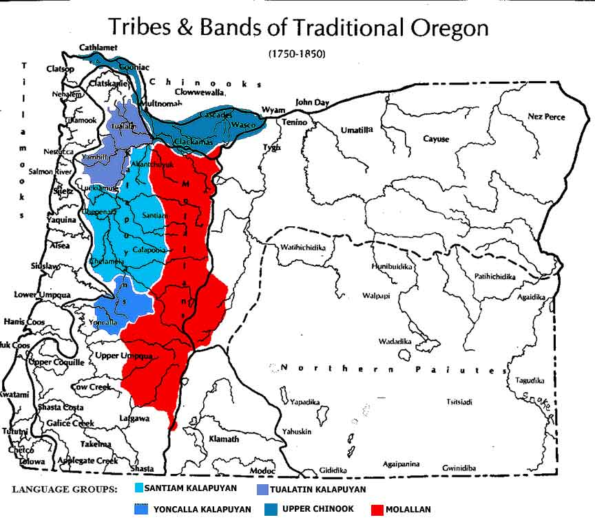 MapTribes And Bands Of Traditional Oregon