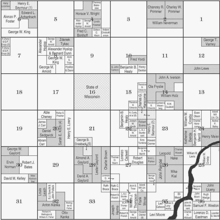 Dewhurst Township 23n Range 3w Plat Map Clark County