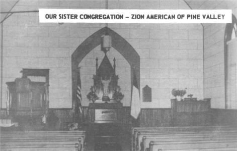 Our Sister Congregation Zion American of Pine Valley