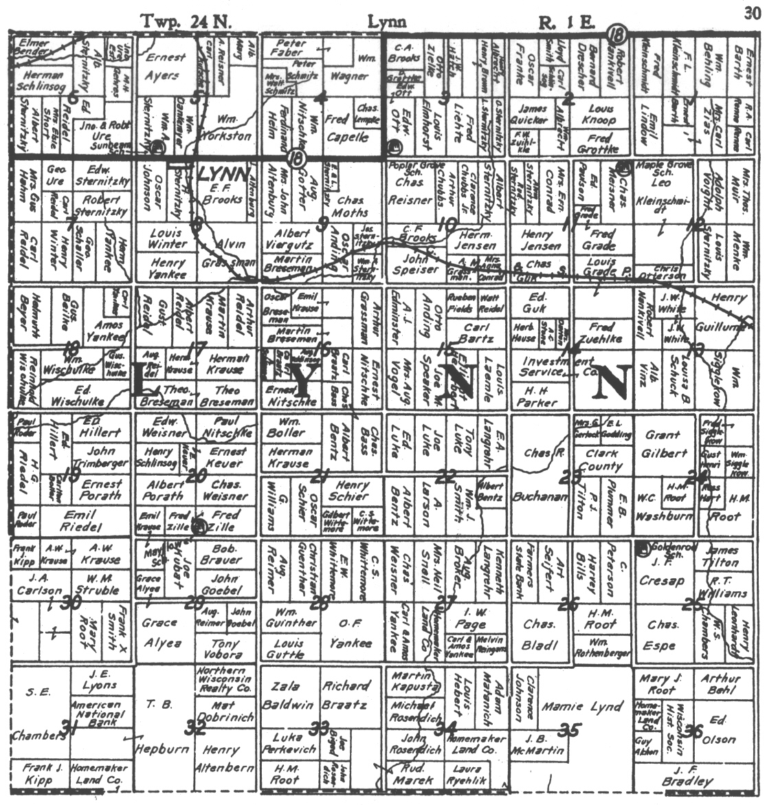 Index Transcriptions And Historic Maps Of Lynn Township Clark Co