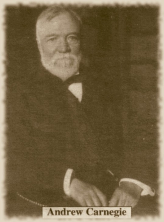 a historical criticism of andrew carnegie Journal of economic history, 38, 879-900  the inside history of the carnegie  steel company  andrew carnegie did not go to school until the age of 8  by  tom scott to help bail him out of his problems with the texas & pacific railroad.