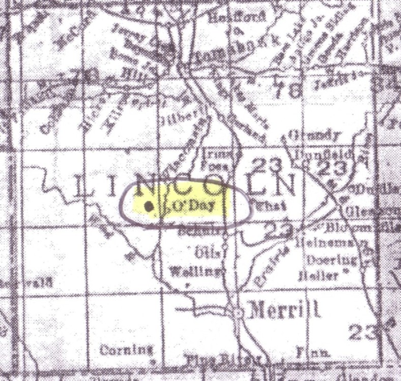 O'Day, Lincoln Co., Wis.